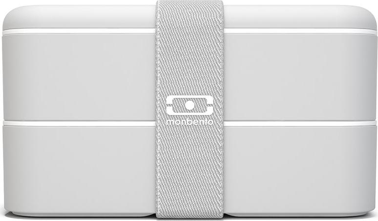 Ланч-бокс Monbento Original, цвет: светло-серый, 10,3 х 18 9,4 см