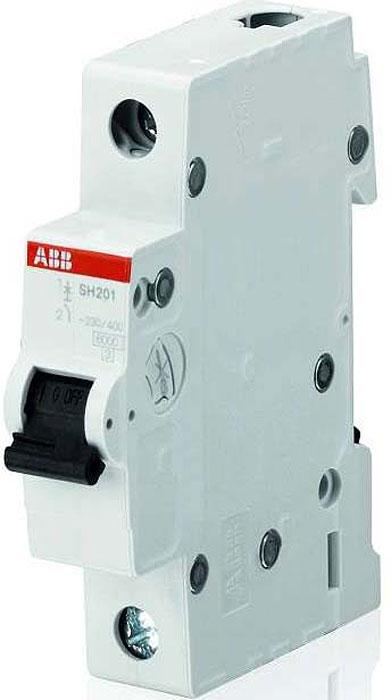 Выключатель автоматический ABB, модульный, 1п C 16А SH201. 2CDS211001R0164 телефонная розетка abb bjb basic 55 шато 1 разъем цвет черный