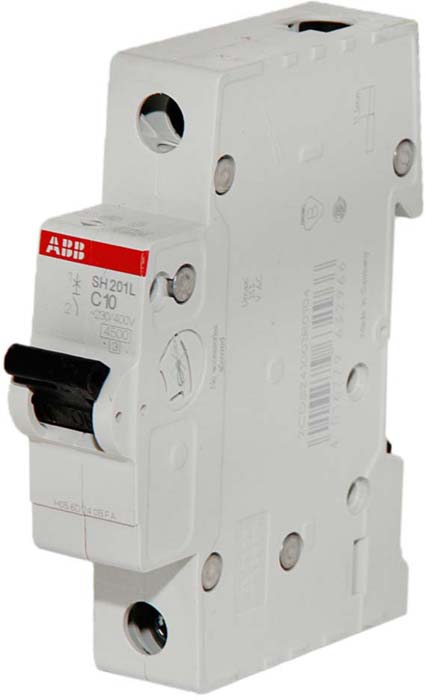 Выключатель автоматический ABB, модульный, 1п C 4А 6кА S201. 2CDS251001R0044 телефонная розетка abb bjb basic 55 шато 1 разъем цвет черный