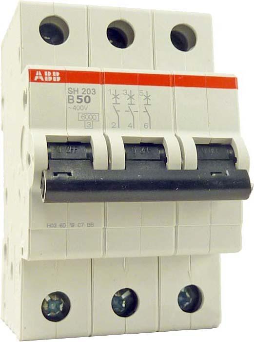 Выключатель автоматический ABB, модульный, 3п C 1А 6кА S203. 2CDS253001R0014 abb выключатель авт мод 3п c 50а s203 6ка abb 2cds253001r0504
