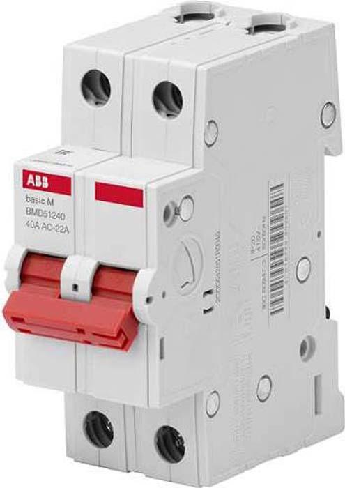 Выключатель нагрузки ABB, 2P, 40A, BMD51240 телефонная розетка abb bjb basic 55 шато 1 разъем цвет черный