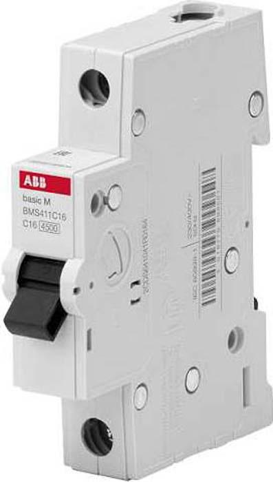 Выключатель автоматический ABB, 1P, 25A, C, 4,5кА, BMS411C25 телефонная розетка abb bjb basic 55 шато 1 разъем цвет черный