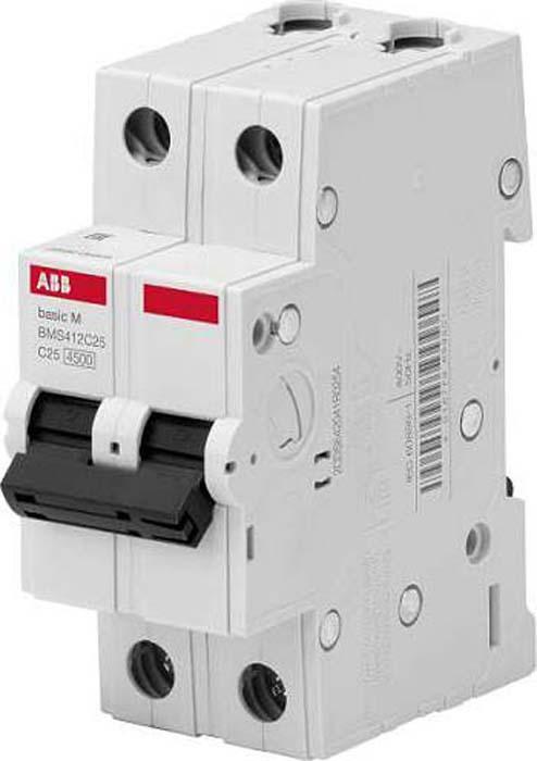 Выключатель автоматический ABB, 2P, 16A, C, 4,5кА, BMS412C16 телефонная розетка abb bjb basic 55 шато 1 разъем цвет черный