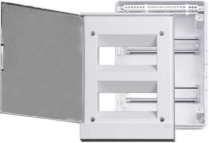 Бокс в нишу ABB Basic, E 24М прозрачная дверь, с клеммами, 1SZR004002A1207 щиты для кухни