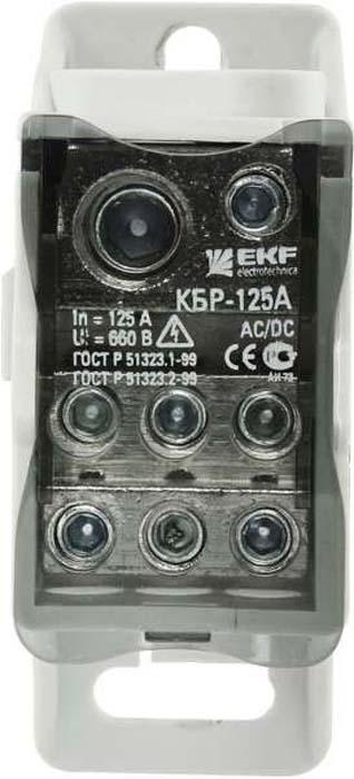 Блок распределительный КБР EKF, на DIN-рейку и монтажную панель 80A ограничитель ekf opv b3