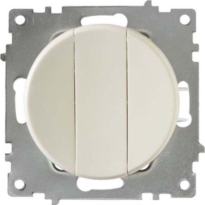 Механизм выключателя OneKeyElectro Florence, 3 класс, СП, 10А, IP20, с подсветкой, цвет: бежевый, 1E31901301
