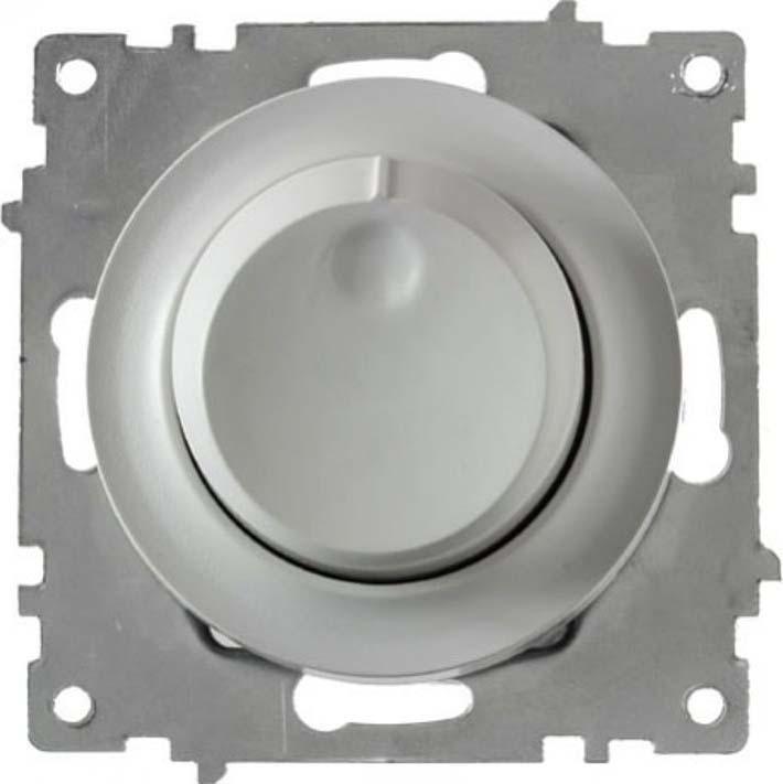 Механизм светорегулятора OneKeyElectro Florence, СП, 600 Вт, цвет: серый, 1E42001302 механизм розетки onekeyelectro florence 1 м сп с крышкой с заземлением цвет серый 1e10501302