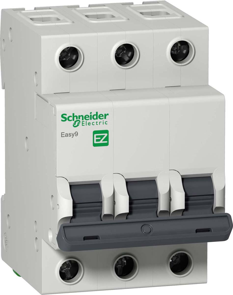 Выключатель автоматический Schneider Electric EASY 9, модульный, 3п C, 6А, 4.5кА, EZ9F34306
