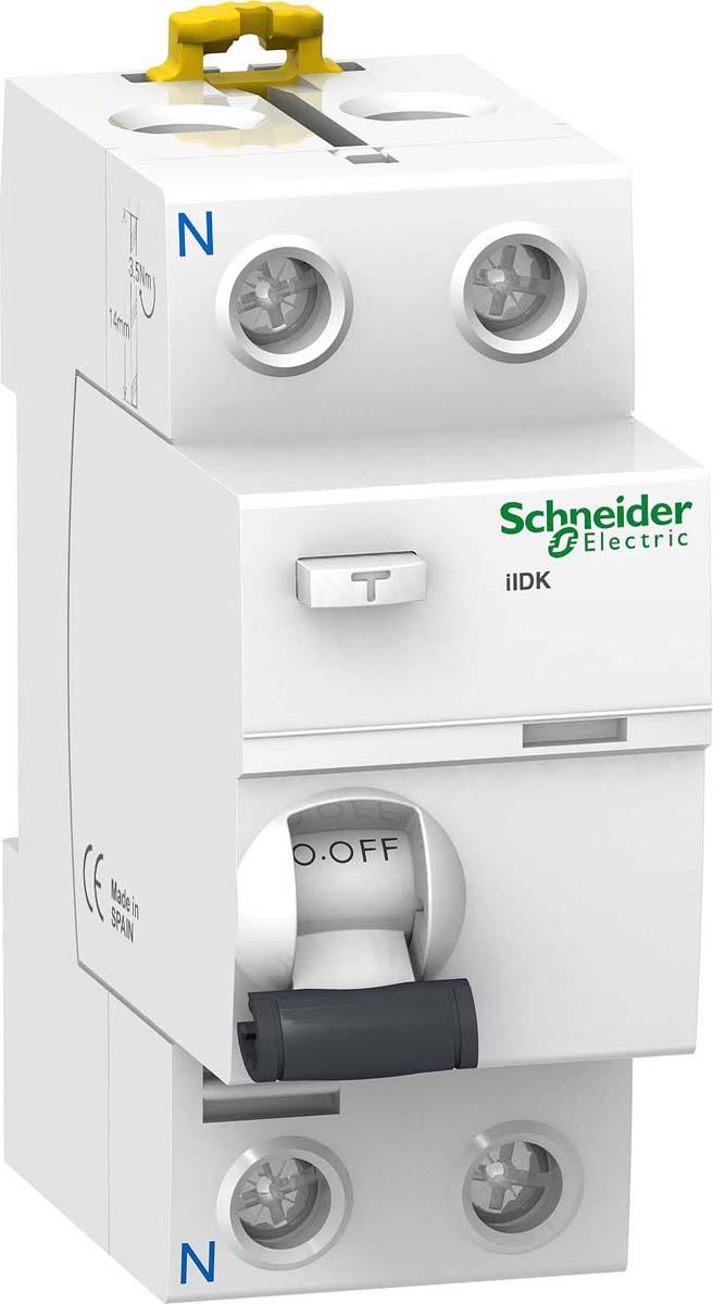 УЗО Schneider Electric Acti9, 2п, 25А, 30мА, тип AC, iID K, цвет: , A9R50225A9R50225Механический коммутационный аппарат, предназначенный для включения, проведения и отключения токов при нормальных условиях эксплуатации, а также размыкания контактов в случае, когда значение дифференциального тока достигает заданной величины в определенных условиях.- ОБЛАСТЬ ПРИМЕНЕНИЯПрименяются для установки в офисных, торговых, складских и жилых помещениях.- ПРИНЦИП ДЕЙСТВИЯПри появлении тока утечки (касание человеком фазного проводника, или уменьшение сопротивления изоляции кабельной линии) векторная сумма токов, протекающих через УЗО не будет равна 0, так как появляется ток утечки, который протекает только по фазному проводнику, во вторичной обмотке трансформатора наведется напряжение, пропорциональное току утечки, и при превышении определенного порога произойдет срабатывание устройства и отключение защищаемой цепи.- ДОПОЛНИТЕЛЬНЫЕ ПРИНАДЛЕЖНОСТИ ИЛИ АКСЕССУАРЫВ стандартную комплектацию входит само изделие.