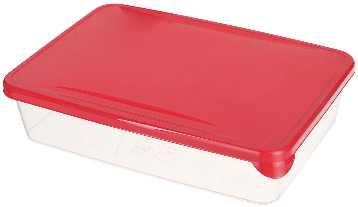 Емкость для продуктов Giaretti Браво, цвет: прозрачный, красный, 0,9 л емкость для продуктов giaretti браво цвет белый прозрачный 900 мл gr1068