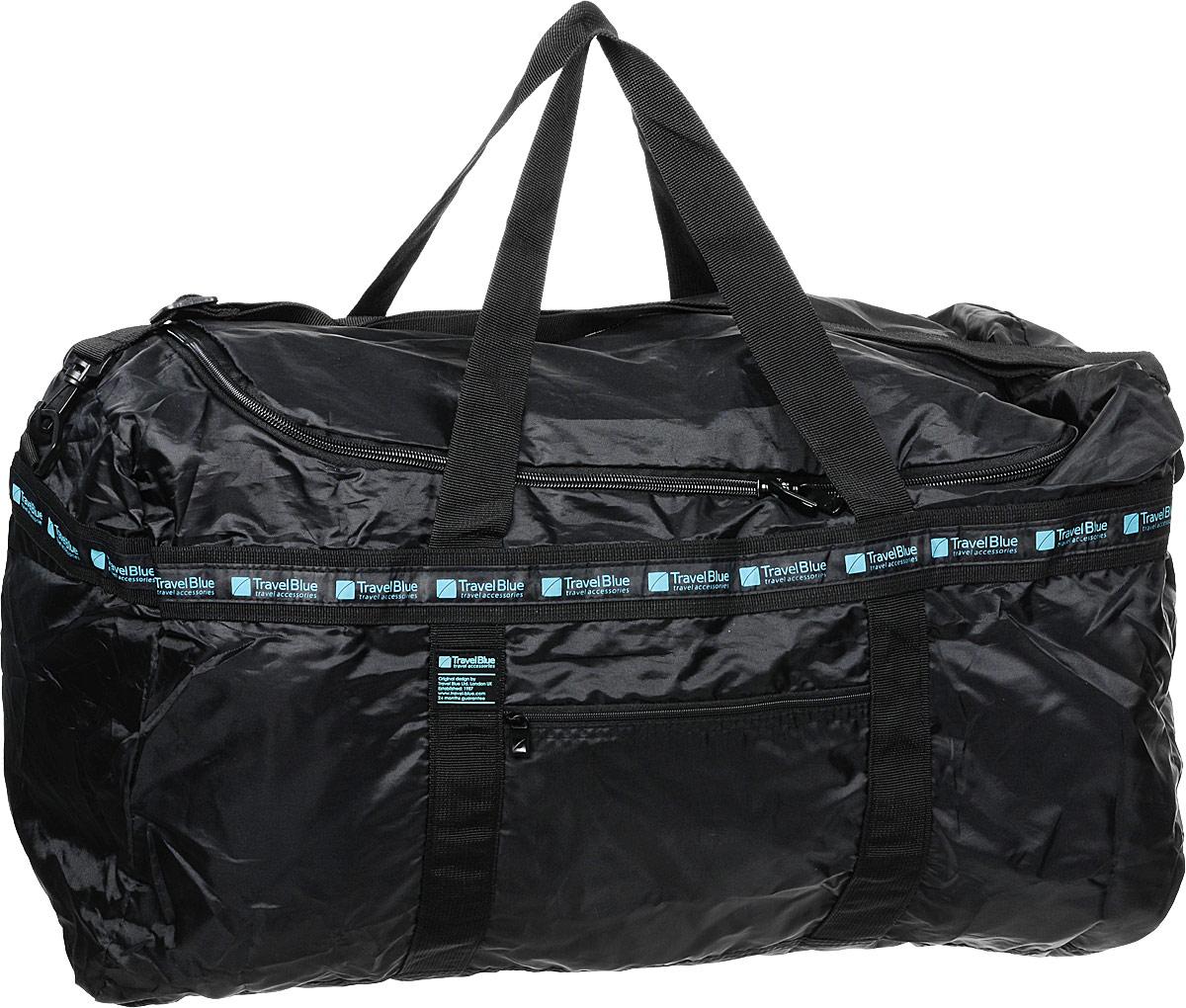 Сумка дорожная Travel Blue Folding Bag XXL, цвет: черный, 60 л сумка дорожная travel blue large carry bag цвет черный 48 л