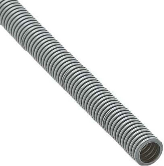 цена на Труба гофрированная Ruvinil, ПВХ d 25 мм, с зондом, цвет: серый (50 м). 12501