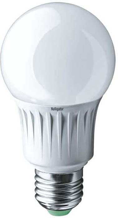 """Лампа светодиодная """"Navigator"""", грушевидная, цвет: белый, 94, 387 NLL-A60-10-230-2.7K-E27, 10Вт, 2700К, E27, 750лм, 170-260В. 18838"""