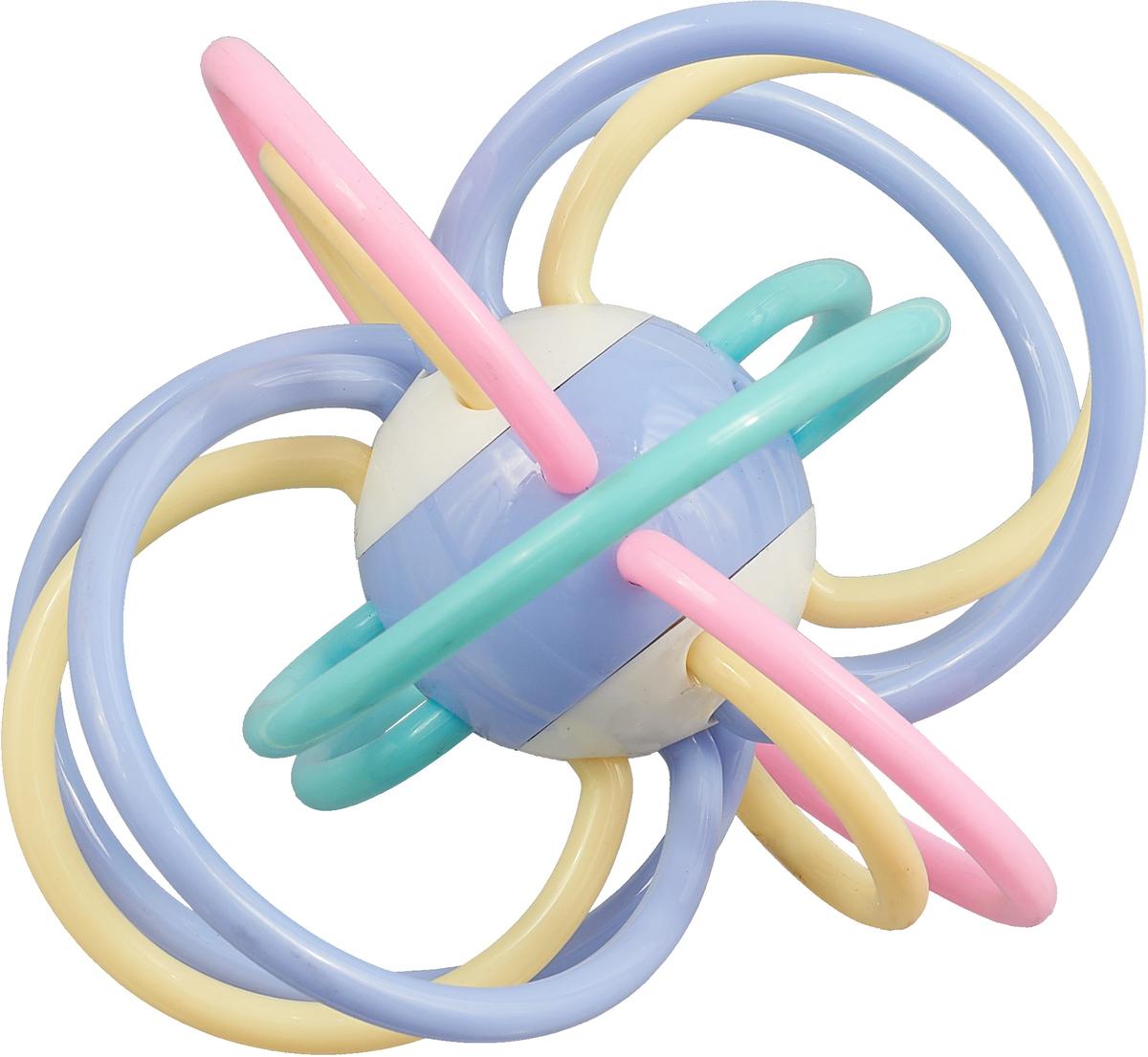 Ути-Пути Развивающая игрушка Шар цвет голубой розовый бежевый ути пути набор погремушек гремелки звенелки цвет красный желтый 2 шт