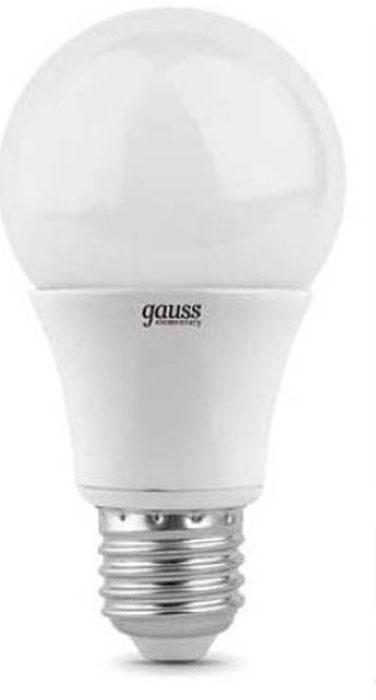 Лампа светодиодная Gauss Elementary, грушевидная, цвет: белый, A60, 10Вт, 4100К, E27, 920лмэ, 180-240В. 23220 лампа светодиодная gauss ld53126
