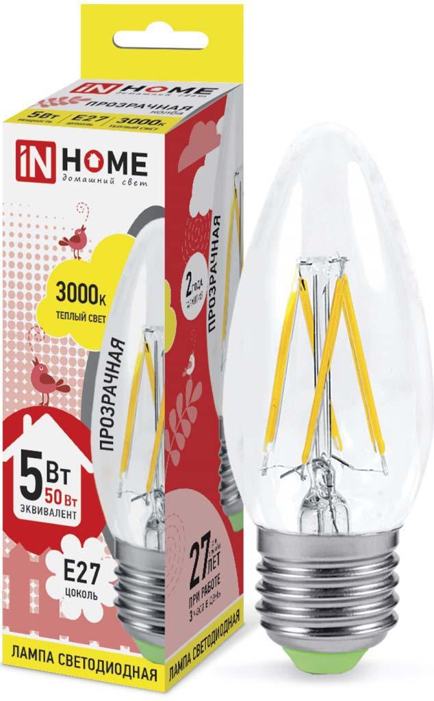 Лампочка ASD 5 Вт, Светодиодная asd led свеча на ветру standard 7 5вт 230в е27 3000к 675лм 4690612004570