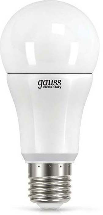 "Лампа светодиодная Gauss ""LED Elementary"", A60, 12Вт, E27, 4100К, 1/10/40. 23222"
