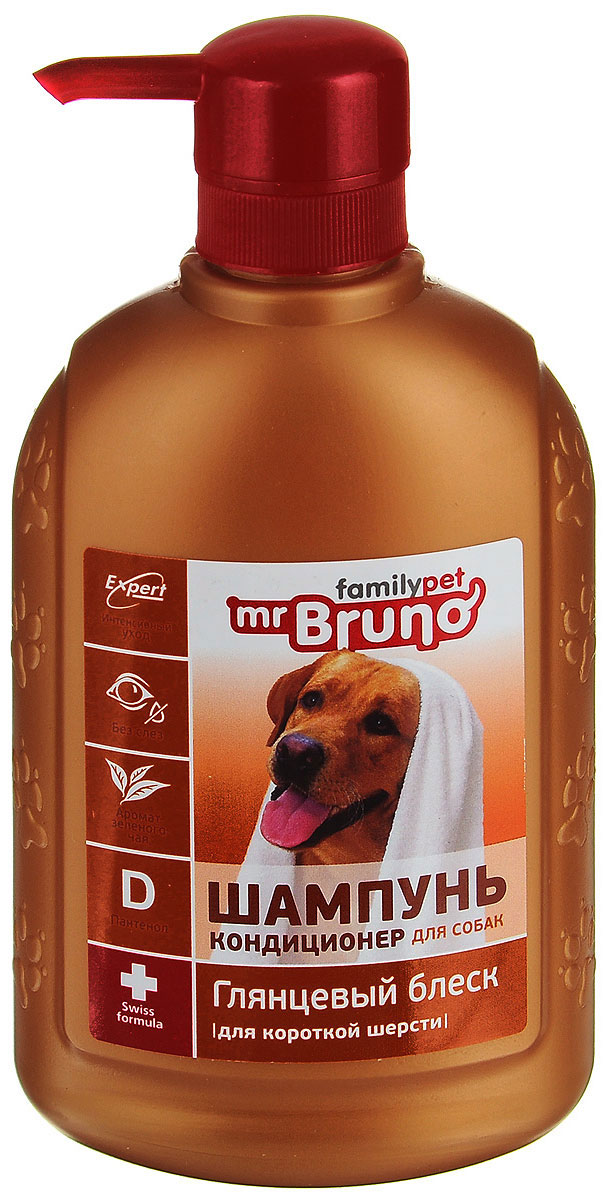 Шампунь-кондиционер Mr. Bruno, для короткой шерсти mr bruno mr bruno шампунь кондиционер для короткой шерсти глянцевый блеск