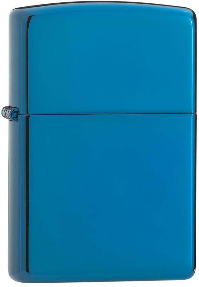 """Зажигалка Zippo """"Classic"""", цвет: синий, 3,6 х 1,2 х 5,6 см. 24353"""
