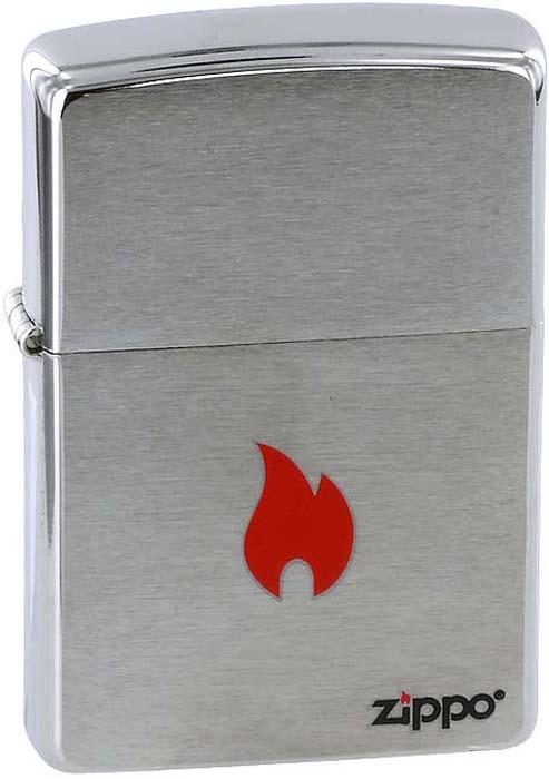 Зажигалка Zippo Flame, цвет: серебристый, 3,6 х 1,2 х 5,6 см. 200 ZIPPO FLAME ONLY