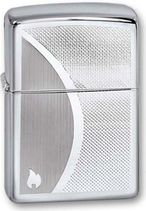 """Зажигалка Zippo """"Classic"""", цвет: серебристый, 3,6 х 1,2 х 5,6 см. 250 ZIPPO SHADOW GRADIANT"""
