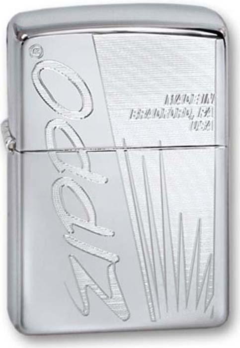 """Зажигалка Zippo """"Classic"""", цвет: серебристый, 3,6 х 1,2 х 5,6 см. 260 ZIPPO"""
