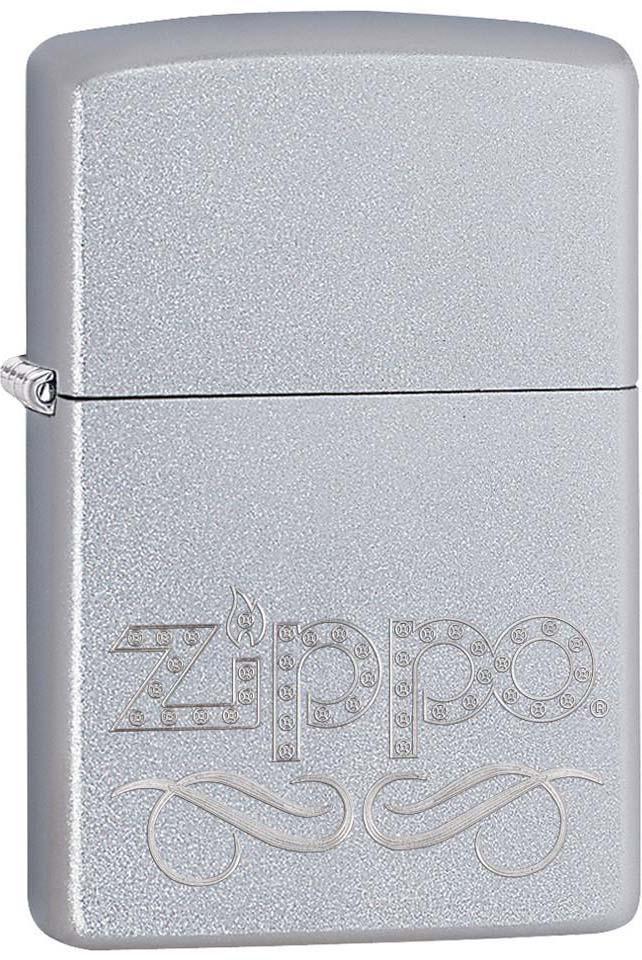 """Зажигалка Zippo """"Classic"""", цвет: серебристый, 3,6 х 1,2 х 5,6 см. 34943"""