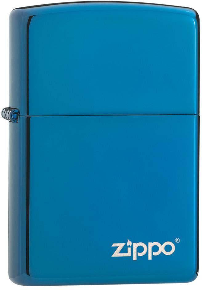"""Зажигалка Zippo """"Classic"""", цвет: синий, 3,6 х 1,2 х 5,6 см. 37963"""