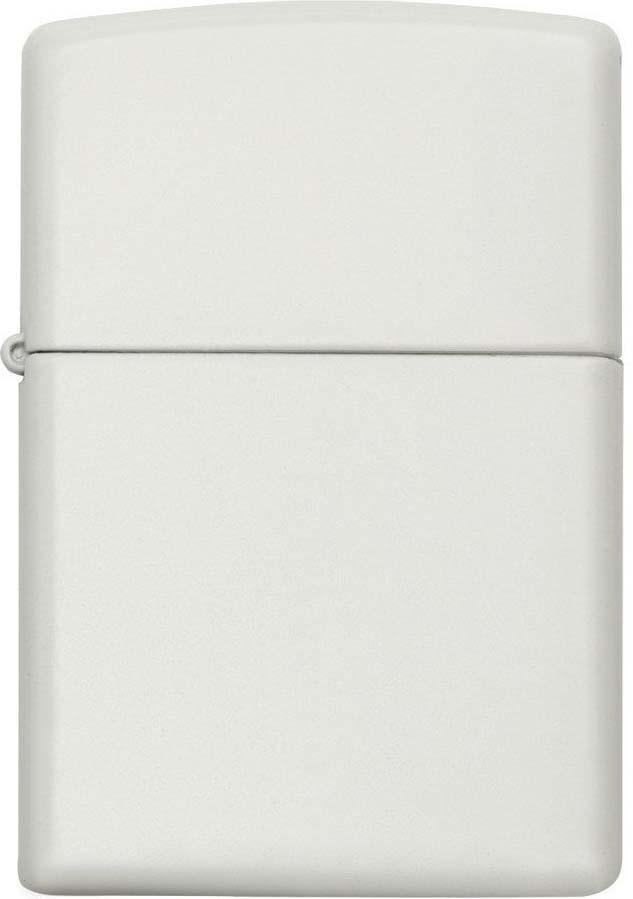 "Зажигалка Zippo ""Classic"", цвет: белый, 3,6 х 1,2 х 5,6 см. 214 REGULAR WHITE MATTE"