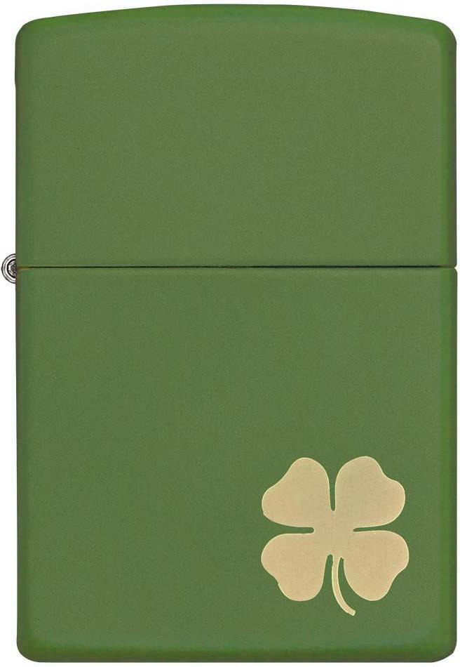 """Зажигалка Zippo """"Classic"""", цвет: зеленый, 3,6 х 1,2 х 5,6 см. 44448"""
