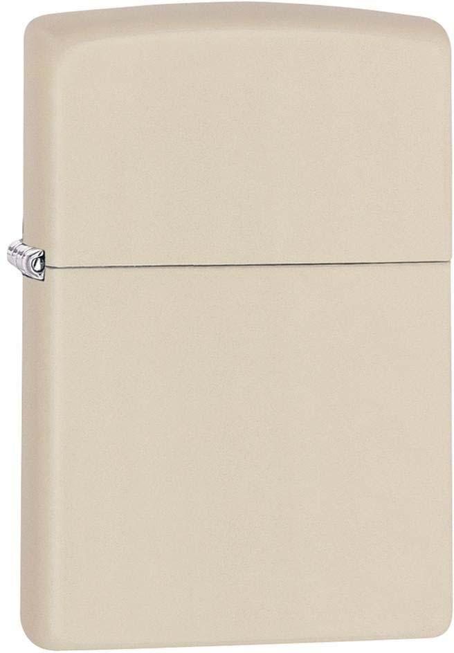 """Зажигалка Zippo """"Classic"""", цвет: светло-бежевый, 3,6 х 1,2 х 5,6 см. 47058"""