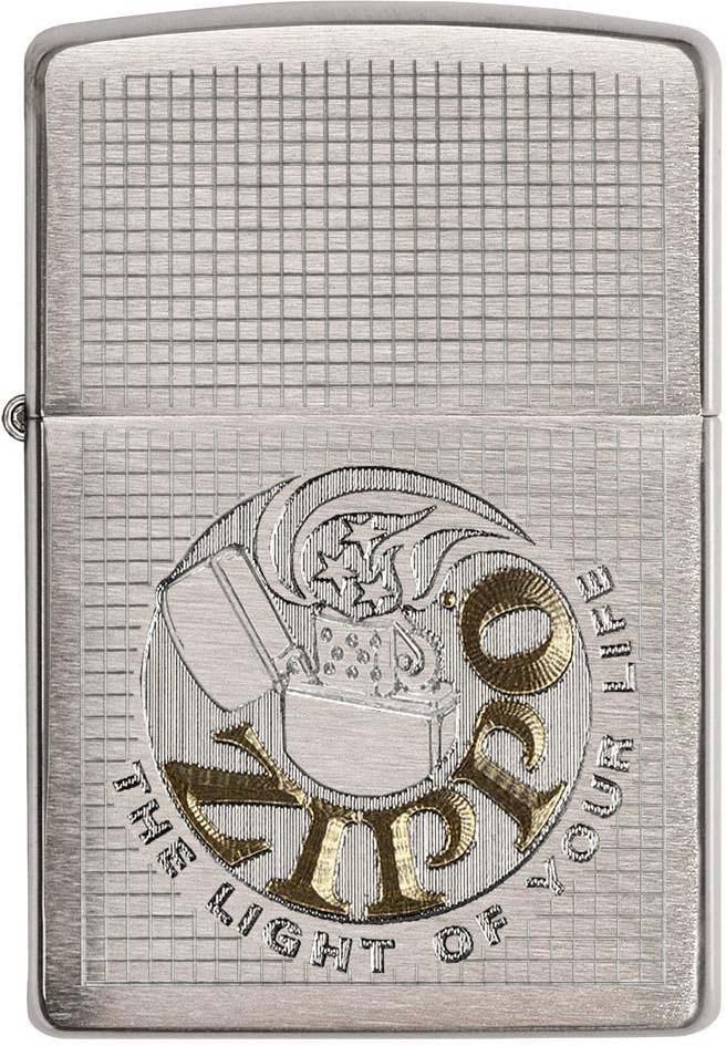 """Зажигалка Zippo """"Classic"""", цвет: серебристый, 3,6 х 1,2 х 5,6 см. 51836"""