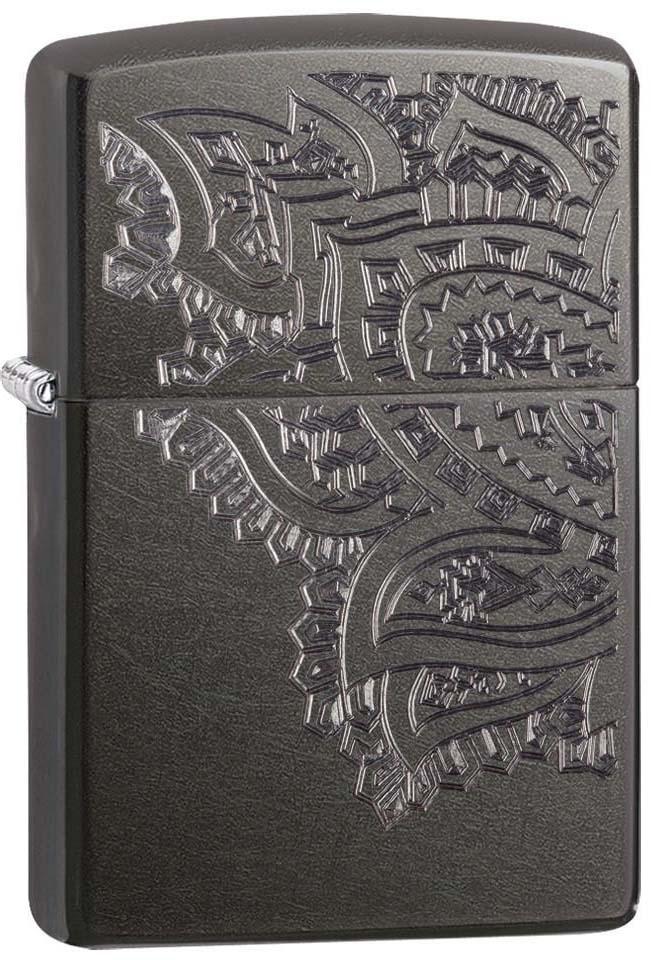 """Зажигалка Zippo """"Classic"""", цвет: серый, 3,6 х 1,2 х 5,6 см. 52904"""
