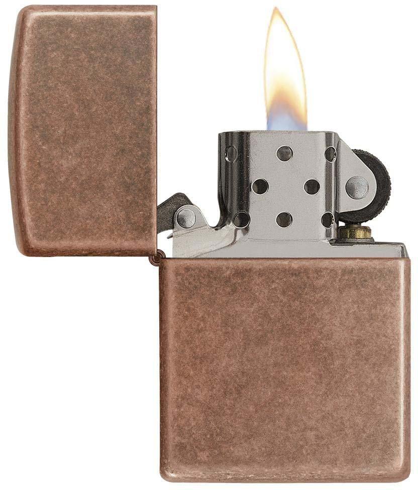 "Зажигалка Zippo ""Classic"", цвет: медный, 3,6 х 1,2 х 5,6 см. 53591"