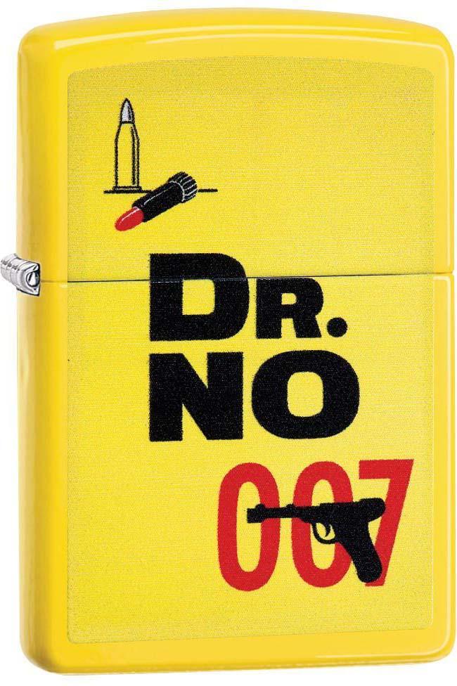 Зажигалка Zippo James Bond, цвет: желтый, 3,6 х 1,2 х 5,6 см. 53767