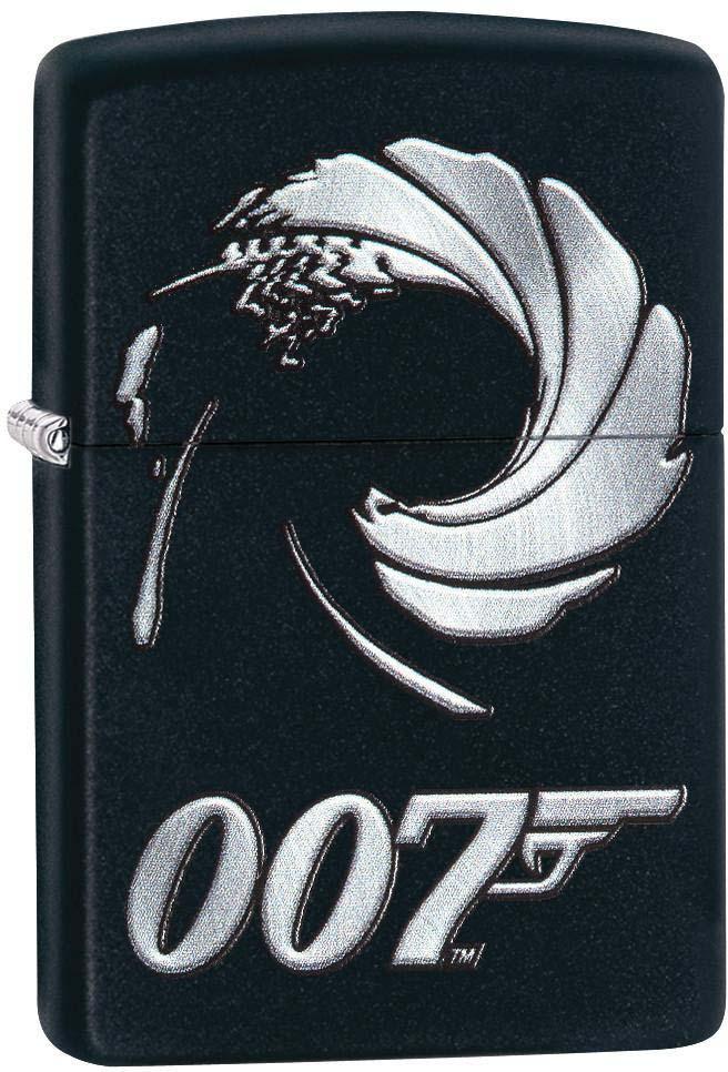 "Зажигалка Zippo ""James Bond"" , цвет: черный, 3,6 х 1,2 х 5,6 см. 53768"
