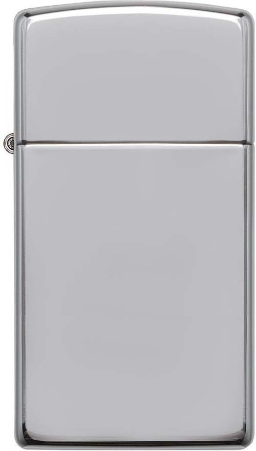 Зажигалка Zippo Slim, цвет: серебристый, 3 х 1 х 5,5 см. 1610 SLIM HI POL CHROME