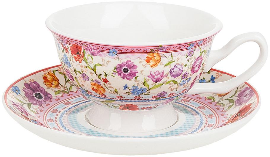 Набор чайный Nouvelle De France Разноцветные тюльпаны, 180 мл, 2 предмета nouvelle кружка разноцветные тюльпаны 360 мл