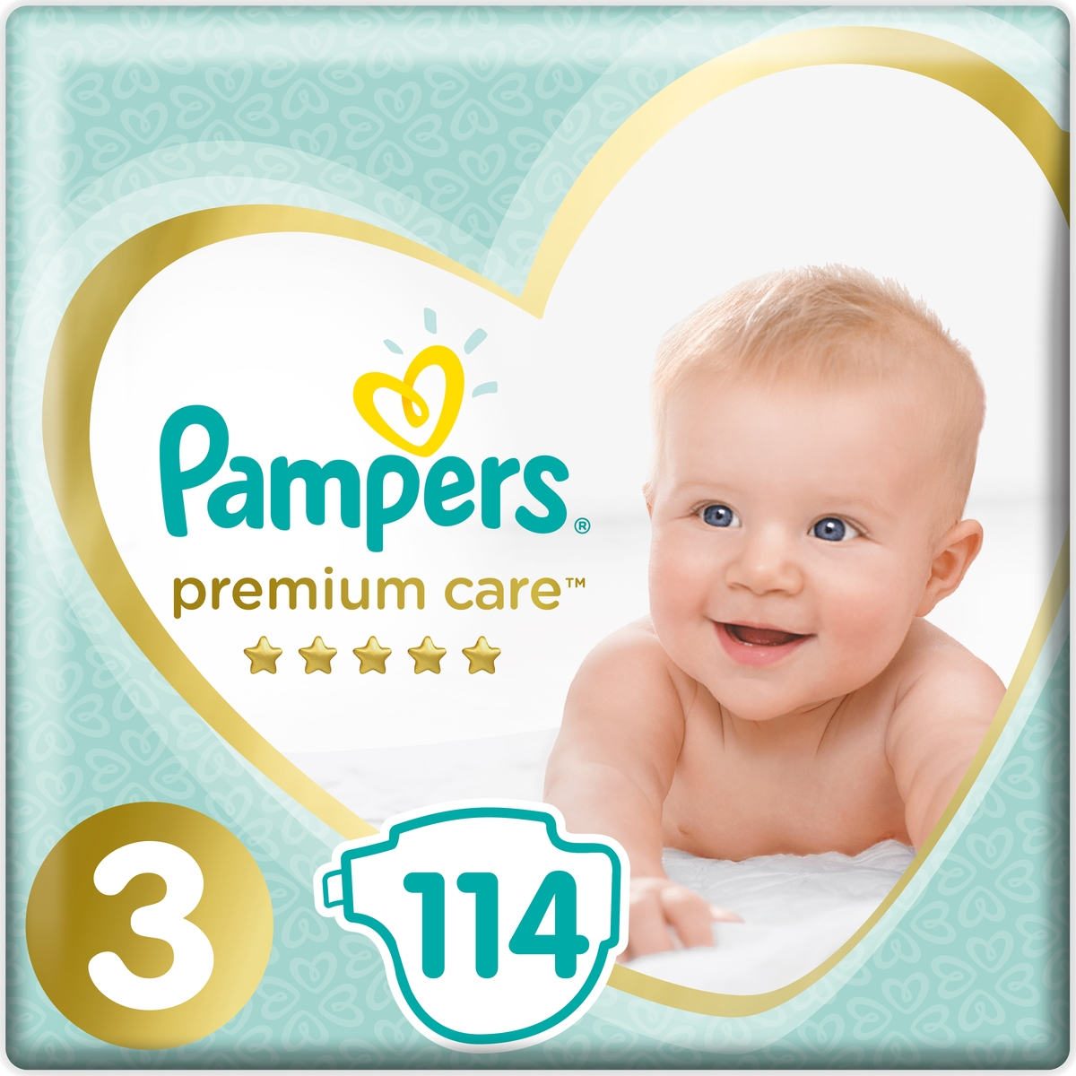 Pampers Подгузники Premium Care 6-10 кг (размер 3) 114 шт