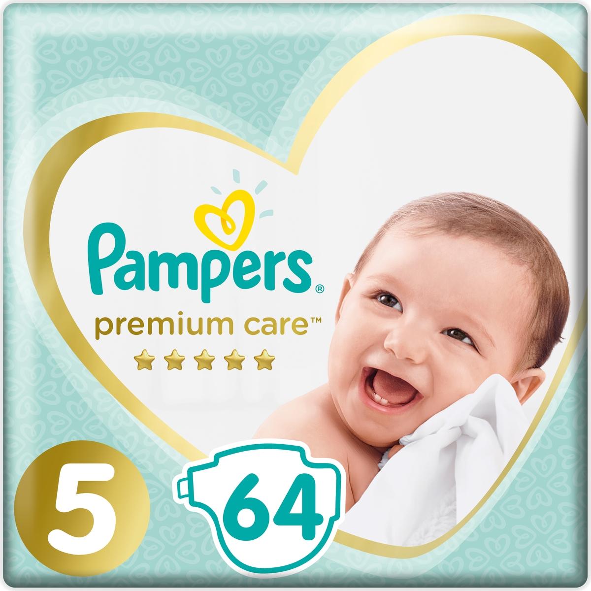 Pampers Подгузники Premium Care 11-16 кг (размер 5) 64 шт подгузники pampers premium care 5 11 кг 64 шт