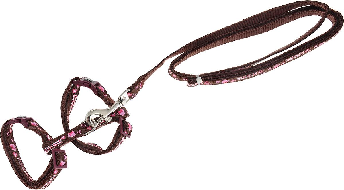 Шлейка Nobby Minni, для кошек, универсальный, цвет коричневый