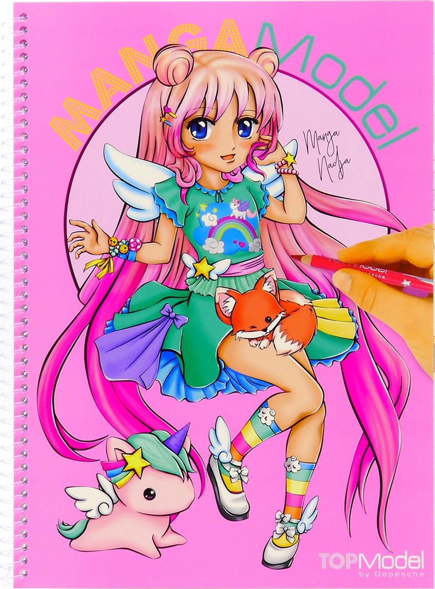 купить Depesche Раскраска TOPModel Manga по цене 1050 рублей
