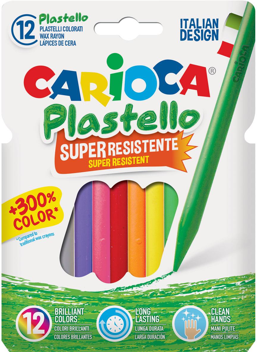 Carioca Набор пластиковых мелков Plastello 12 цветов carioca набор крупных пластиковых мелков plastello maxi 12 цветов