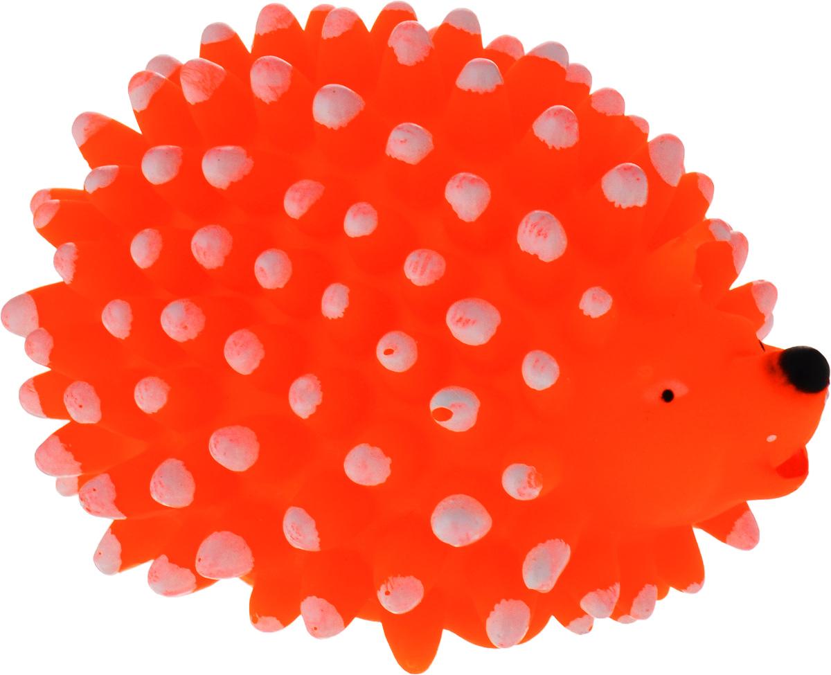 Игрушка для собак Уют Ежик, цвет: оранжевый, 10 x 7,5 x 6 см форма для печенья lekue елочки цвет зеленый 25 x 18 x 3 см
