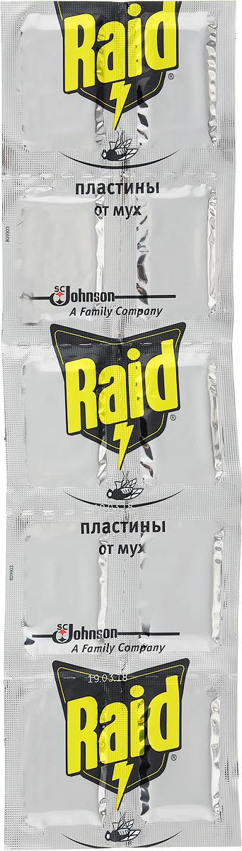 Пластины от мух Raid, 10 шт raid от насекомых