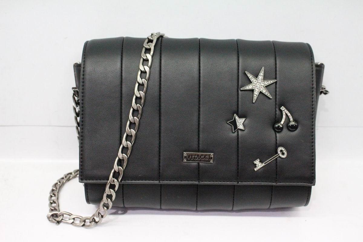 цена Сумка кросс-боди женская Vitacci, цвет: черный. YZ0388 онлайн в 2017 году