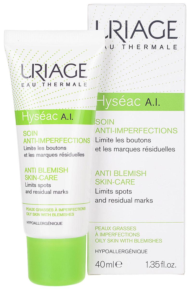 Uriage Эмульсия противовоспалительный уход для жирной проблемной кожи Hyseac А.I., 40 мл uriage эмульсия а i противовоспалительный уход для жирной проблемной кожи hyseac 40 мл