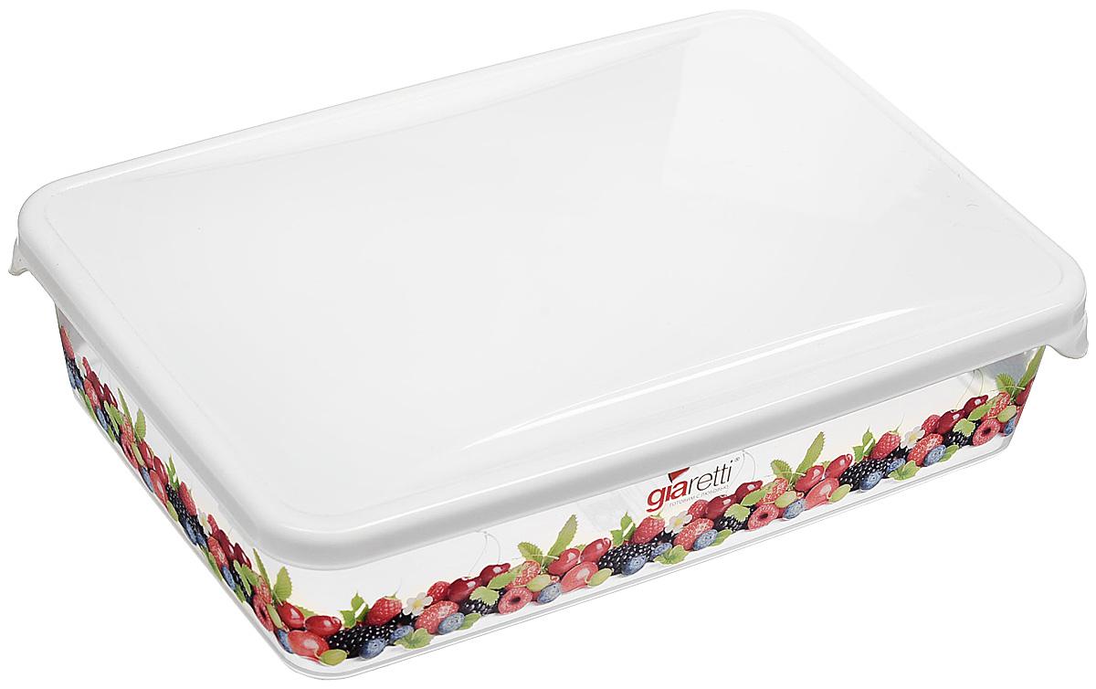 Емкость для продуктов Giaretti Браво, цвет: белый, прозрачный, 900 мл. GR1068 емкость для продуктов giaretti браво цвет белый прозрачный 900 мл gr1068