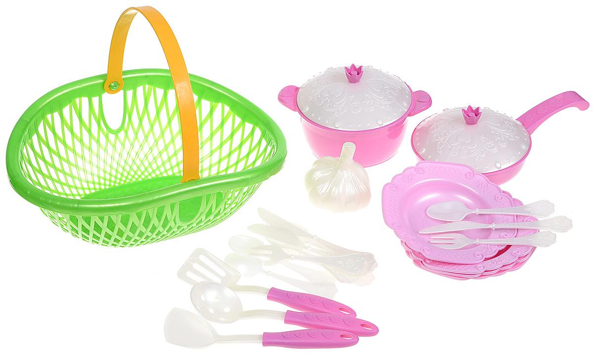 Игрушечный набор посуды Нордпласт Кухонный сервиз. Волшебная хозяюшка, цвет в ассортименте песочный набор нордпласт 128 5 предметов в ассортименте