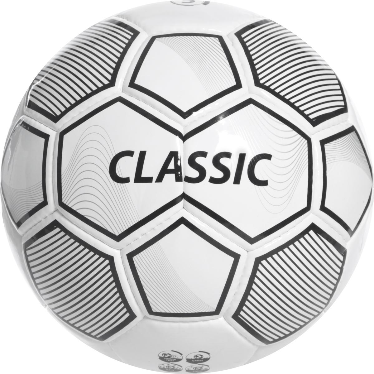 Мяч футбольный Torres Classic, цвет: белый, серый, черный. Размер 5 мяч футбольный torres vision evolution fifa размер 5